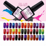 GEL LAB Choose Any 6 Colours 10ml Temperature Changing Chameleon Gel Nail Long Lasting Vanish 77 Colours for Choosing