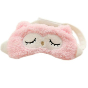 Ayygiftideas Unique Owl Sleeping Eye Mask Travel Eye Cover Hot Cold Therapy Eye Spa