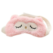 Ayygiftideas Cartoon Owl Sleeping Eyeshade Breathable Blinder Eye Cover Gel Eye Mask