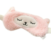 Ayygiftideas Soft Cute Sheep Eyeshade Cold Hot Therapy Yoga Eye Spa Eye Mask