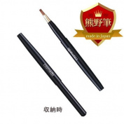 Kumano Kosumedo extrusion lip brush Small (Wiesel 100%) capped Pikes smaller