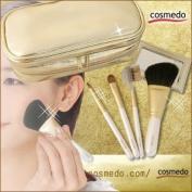 Takumi of makeup brushes Kosumedo Kumano brush makeup brush set white Limited four + pouch # 10000