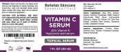 BEST C20 VITAMIN C SERUM for Face with Hyaluronic acid. Top Anti Ageing Serum. Fade Dark Spots, Acne Scars, Reduce the Look of Fine Lines and Wrinkles. Crepe Erase. Organic and Cruelty Free. 30ml