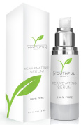 Youthful Rejuvenating Serum - Natural Anti Ageing Day Serum for Face Enriched with Organic Ingredients to Brighten & Revitalise Dull Skin