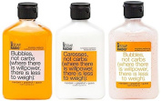 Body Wash, Exfoliating Scrub, & Lotion Gift Set - Mandarin, Grapefruit & Guava - Temptation Resistance Formula