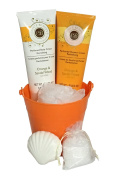 Spa Bath & Body Gift Basket - Bath Gel, Lotion, Soft Bath Puff **Several Scents and Variations to Choose From**