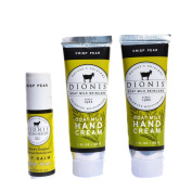 Dionis Goat Milk Hand Cream and Lip Balm 3 Piece Gift Set - Crisp Pear