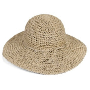 Ewandastore Women Ladies Straw Sun Visor Wide Large Brim Floppy Fold Swimming Beach Bohemia Sun Hat for Holiday Travel Beach