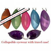 Glitter Soft Podz Goggles - Tanning Bed Keychain Eyewear - Random Colours Picked