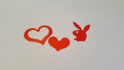 3 Way Heart & Bunny with Tie Tanning Stickers 50/50
