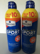 Member's Mark Sport SPF 50 Continuous Spray Sunscreen 300ml 2 pack