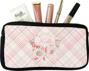 Modern Plaid & Floral Makeup Case
