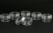 6pc Clear Screw Top Plastic Jars