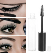 Akak Store 5 Packs 4ml Transparent Reusable Empty Bottle Tube Container Makeup Vials Cosmetic Tool for Eyelash Growth Oil /Mascara with Brush for Home and Travel