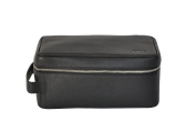 Kiko Leather Dopp Kit, Black