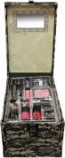 The Colour Workshop Beauty Traveller 20 Piece make up Collection Large Train Case-Beige Lace
