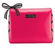 Cosmetic Makeup train Bag case pouch Hot Pink Ribbon patent leather New