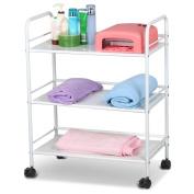 Topeakmart 3 Shelf Large Salon Beauty Trolley Cart Spa Storage Dentist Wax Treatments
