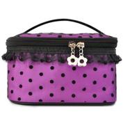 HiiBaby® Women Toiletry Cosmetic Case Storage Beauty Container Makeup Bag Makeup Case Organiser Zipper Handbag