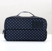 BB & Love Portable Multi-Functional Travel Organiser Double Pocket Cosmetic Make-up Bag Luggage Storage Case Underwear Pouch (Dark Blue
