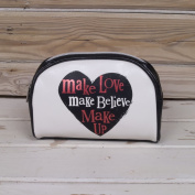 The Bright Side Make Love, Make Believe, Make Up Cosmetic Bag