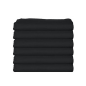 bkb Daycare 6 Piece Fitted Crib and Toddler Sheets, Black