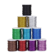 WINOMO 10pcs Beading Cord Thread Jewellery Making String 10 Colours 10M 0.5mm