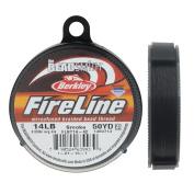 FireLine Braided Beading Thread, 6.4kg Test and 0.02cm Thick, 50 Yard Spool, Smoke Grey