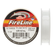 FireLine Braided Beading Thread, 2.7kg Test and 0.02cm Thick, 15 Yard Mini Spool, Crystal Clear