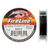 FireLine Braided Beading Thread, 2.7kg Test and 0.02cm Thick, 15 Yard Mini Spool, Smoke Grey
