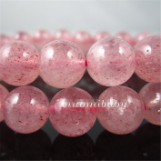 Luoyi 4mm Natural Strawberry Quartz Beads Strand, Round