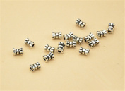 20pcs Thai Sterling Silver Small Tube Beads 925 Thai Silver Mini Tube Spacers 3.3mm*4.5mm