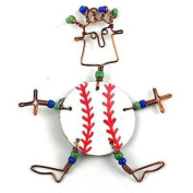 Creative Alternatives Dancing Girl Baseball Fanatic Pin