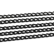 Black Aluminium Curb Cable Link Chain, 10 Metres - Over 30 Feet, 6x3.5mm