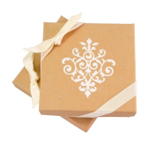 Gorgeous Jewellery & Gift Box (Kraft Brown, Square, 3.5 x 8.9cm x 2.5cm ) - 6 boxes