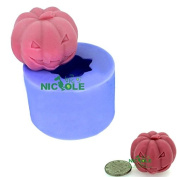 JoShop Nicole Halloween Terror Pumpkin Fondant Cake Chocolate Mould Soap Silicone Mould Candle Mould