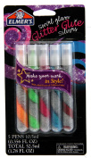 Elmer's Swirl Glam Glitter Glue, 10ml Each, Pack of 5 Colour Tubes, Multicoloured Silvers