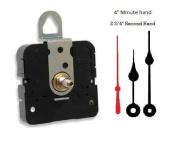 Takane Quartz Clock Movement Mechanism With 10cm spade hands, U.S.A. Made