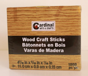 Cardinal Arts & Crafts Wood Craft Sticks Box