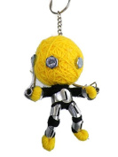 Yellow robot String Doll Keychain Handmade,Souvenirs , gifts