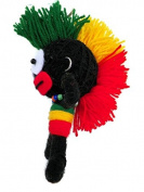 Mohawk hairstyle 3 colours , red, yellow and green .Doll Keychain,Souvenirs , gifts