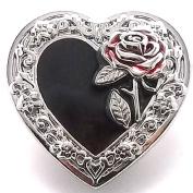 Heart and Rose Line 24 Snap Button Cap 2.5cm - 0.6cm 1265-59