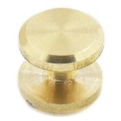 Fujiyuan 20 Sets Solid Brass Flat Head Button Stud Screwback spot For Screw Leather Belt Shaft Length 10mm x 4mm x 4mm