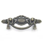 "Blumoona 5 Pcs - Antique Brass Jewellery Box Drawer Cabinet Cupboard Door Wine Handle Pull Knob W Screws 116mm(4.56"")x45mm"