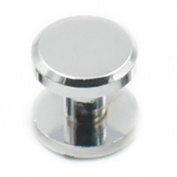 Fujiyuan 10 Sets Solid Brass Button Stud Screw nail Plane Screwback Leather Belt Chrome 10mm x 4mm x 6mm