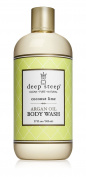 Deep Steep Coconut Lime Argan Oil Body Wash - Made with Organic Argan Oil, Organic Shea Butter, and 100% All Natural Ingredients - Vegan, Non-GMO, Gluten Free, and Cruelty Free, 500ml Bottle