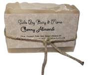 Suds By Stacy and More Cherry Almond Homemade Soap Bar (One 120ml bar) cold processed with fragrance oils