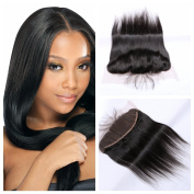 Derun Hair Best Quality 100% Virgin Remy Silky Straight 25cm ear to ear full Lace Frontal Closure size 13*4 natural colour