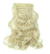 LOUISE MAELYS 7Pcs Clip in Hair Extensions Curly Hair Pieces and Wigs 16 Clips