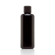 Infinity Jars 100 Ml (3.4 Oz) Black Ultraviolet Glass Essential Oil Bottle w/ Euro Dropper Cap